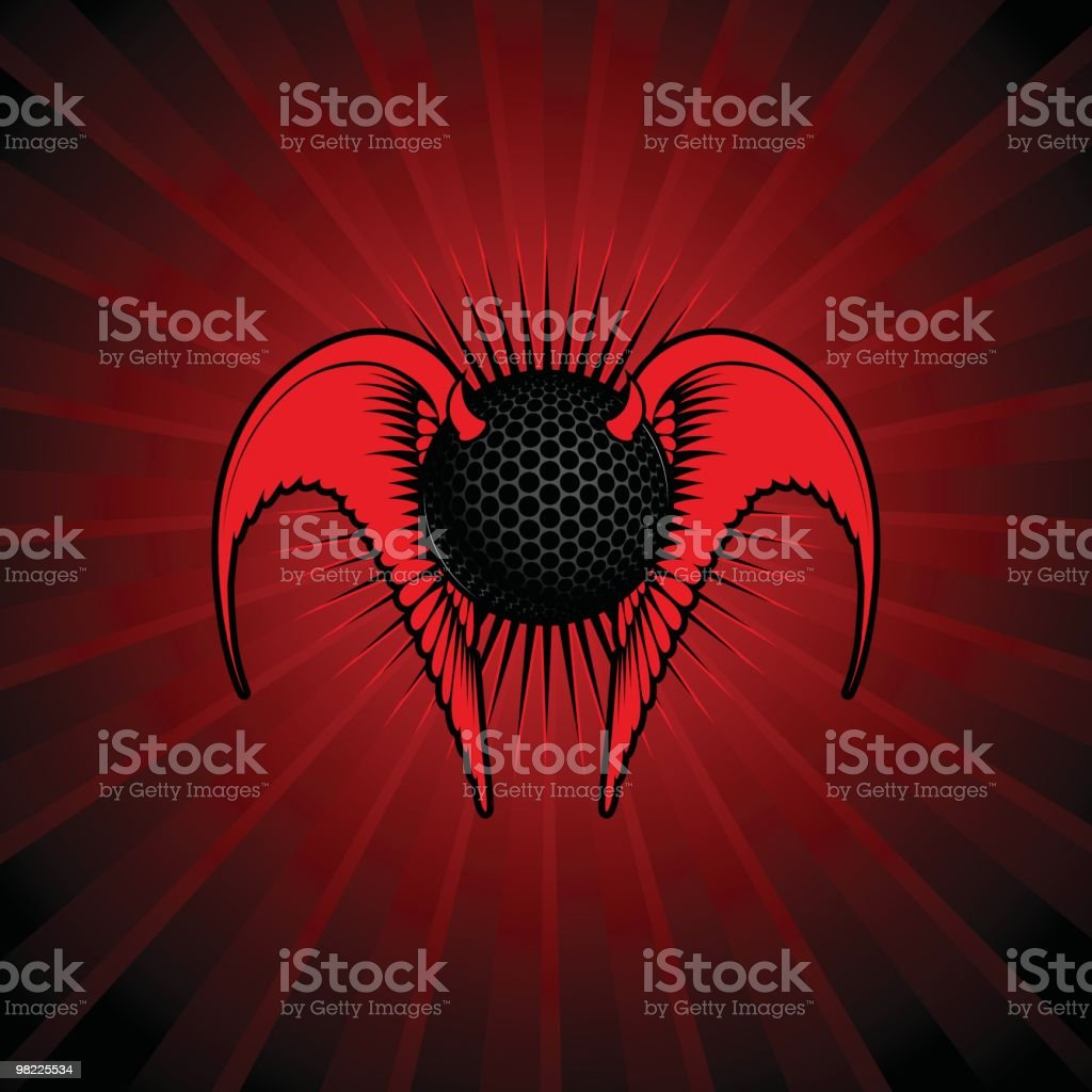 Devilish Golf Ball royalty-free devilish golf ball stock vector art & more images of afterlife