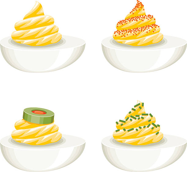 Top 60 Deviled Eggs Clip Art, Vector Graphics and ... (612 x 565 Pixel)