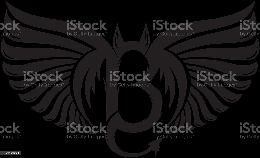 devil's number-13 royalty-free stock vector art