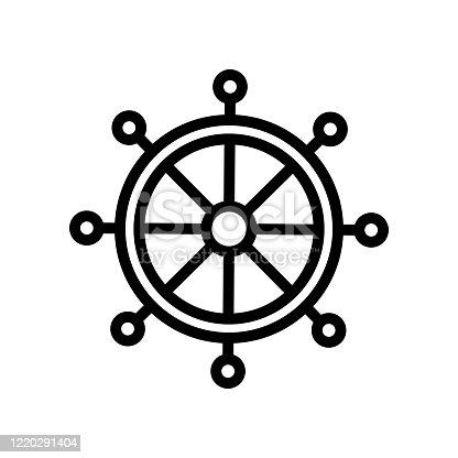 dharma wheel icon vector. dharma wheel sign. isolated contour symbol illustration