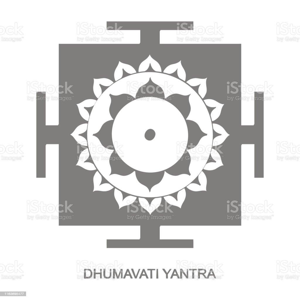 Dhumavati Yantra Hinduism Symbol Stock Illustration
