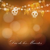 Dia de los muertos, Day of the Dead, Halloween card
