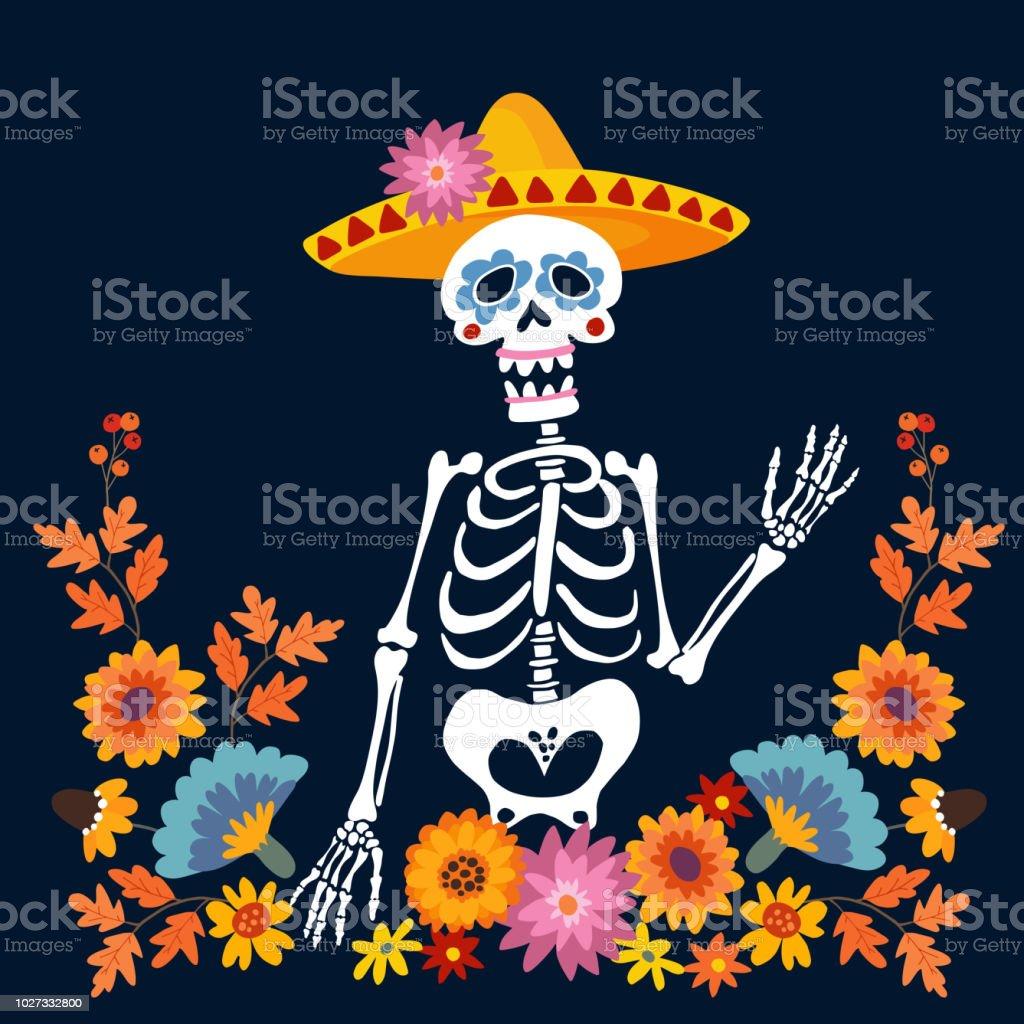 Dia de los muertos greeting card invitation mexican day of the dead dia de los muertos greeting card invitation mexican day of the dead skeleton m4hsunfo