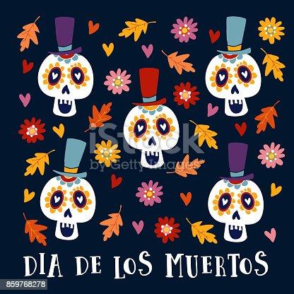 Imagen De Dia De Los Muertos Tarjeta De Felicitación Invitación
