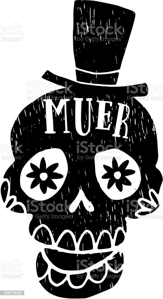 Ilustración De Dia De Los Muertos Tarjeta De Felicitación Invitación