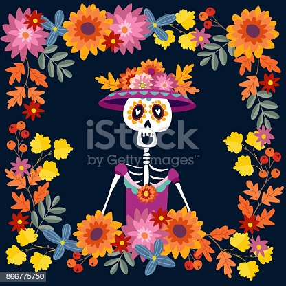ᐈ Imagen De Dia De Los Muertos Tarjeta De Felicitación