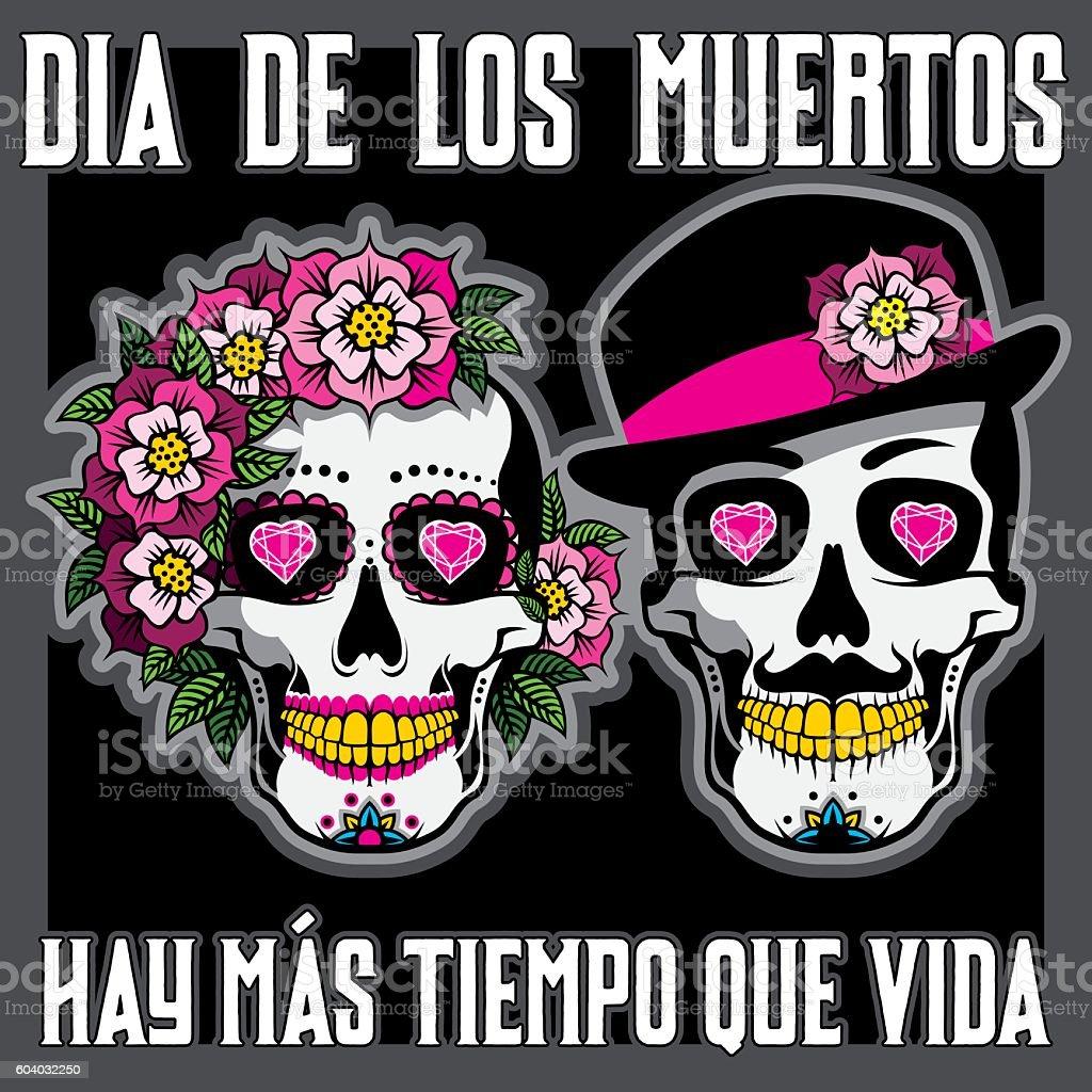 Dia De Los Muertos Or Day Of The Dead Placard Vektorgrafik Och Fler Bilder Pa Alla Helgons Dag Istock