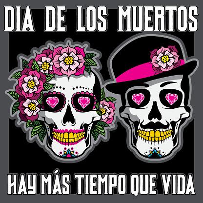 Dia de los Muertos or Day of the Dead Placard