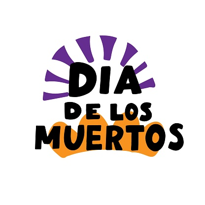 Dia de los muertos quote. Happy Day of the Dead. All soul day, mexicano tradicional festive family holiday. Remembering. Spanish ethnic carnival. Hand lettering.