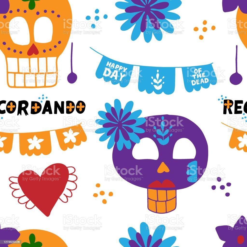 White Ricamate Tatuaggio Sugar Skull aufbügler Dia de los muertos patch Mexico