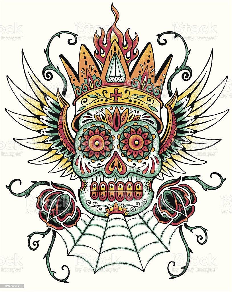 Dia De Los Muertos Tattoo Design Stock Vector Art More Images Of