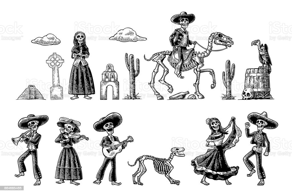 Dia De Los Muertos Female Skull Drawings