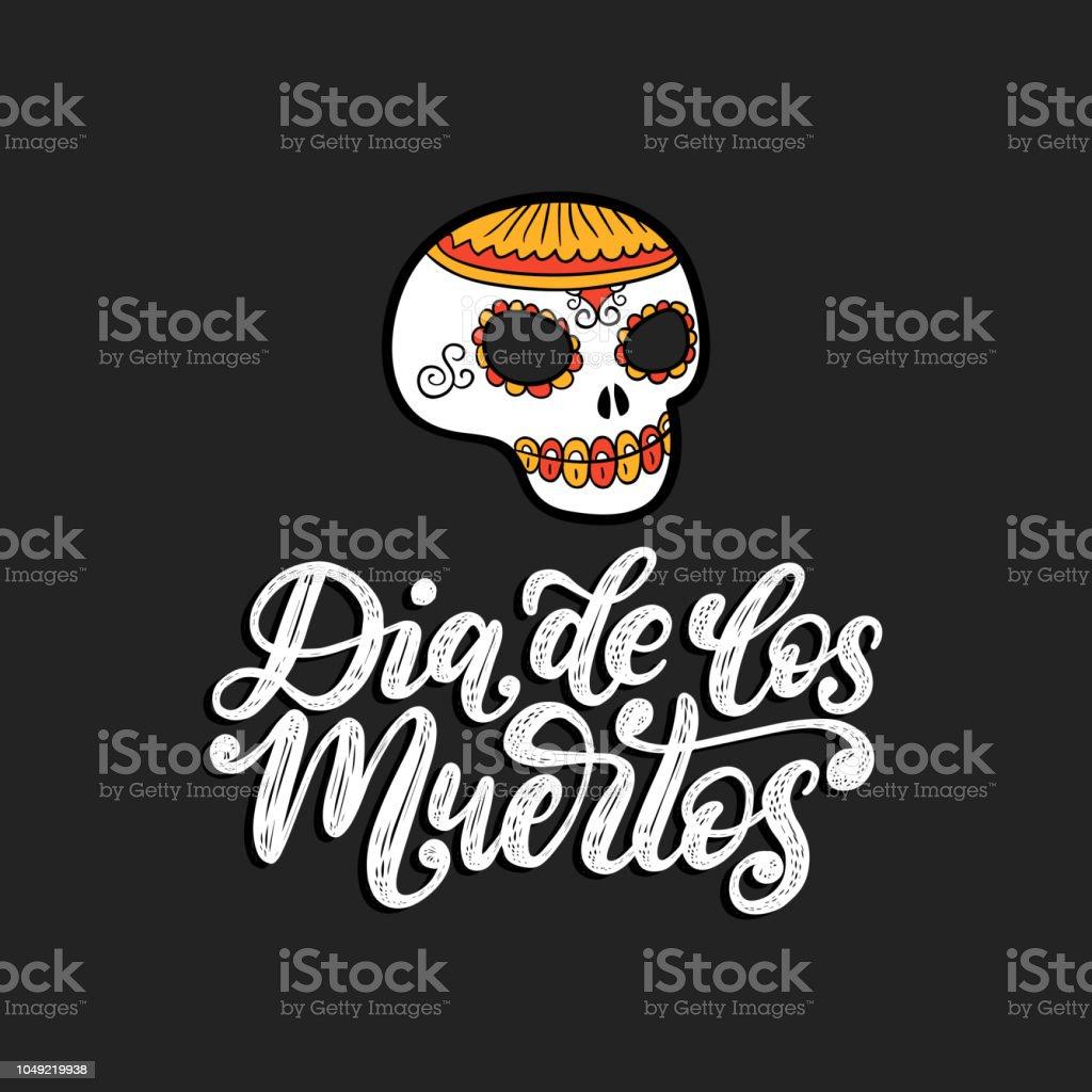 Ilustração De Dia De Los Muertos Traduzido Do Espanhol Dia Dos