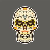Dia de Muertos, El Muerto, Los Muertos, Day of the Dead Skull Illustration Vector