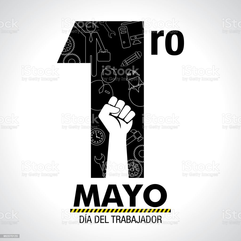 Dia del trabajador international workers day in spanish language dia del trabajador international workers day in spanish language greeting card icons of m4hsunfo