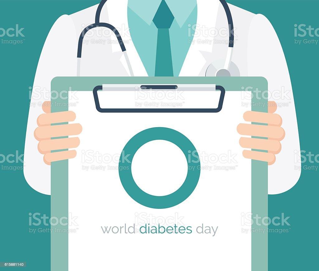 Diabetes day background vector art illustration
