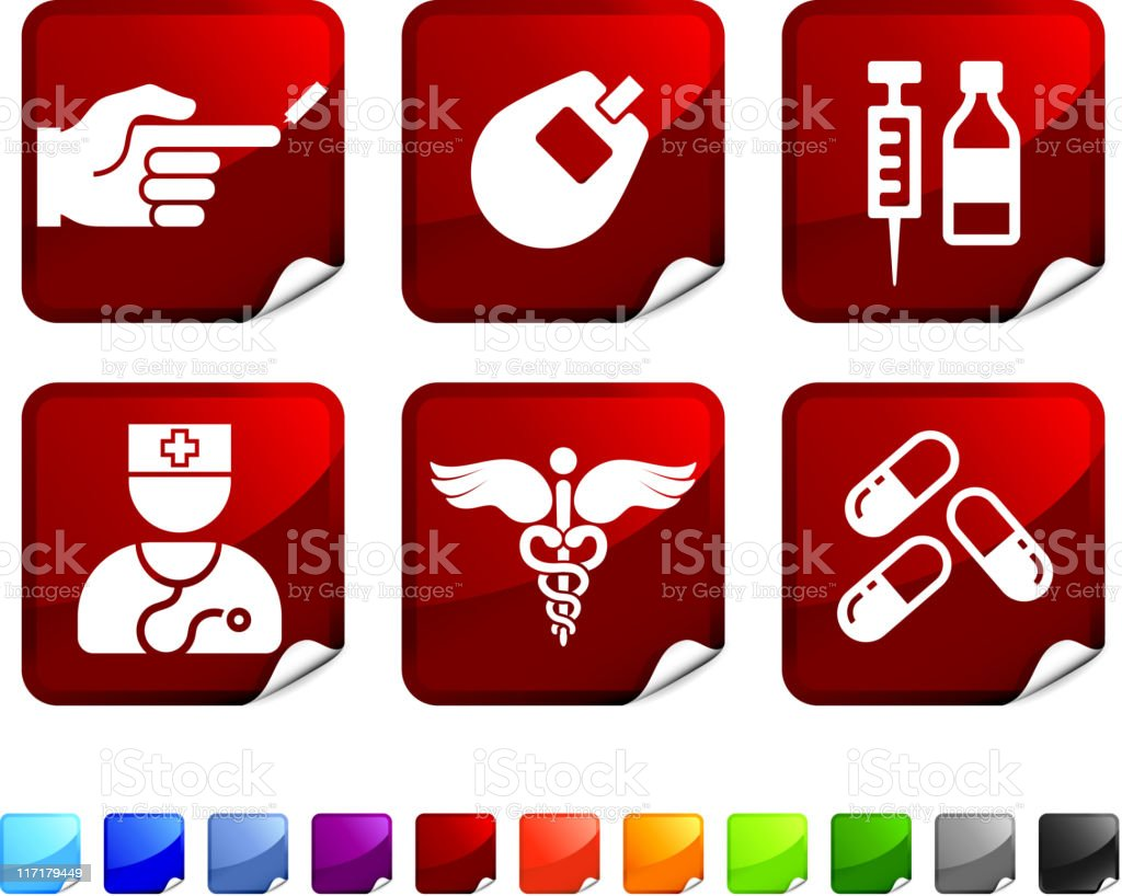 diabetes health care royalty free vector arts on sticker vector art illustration