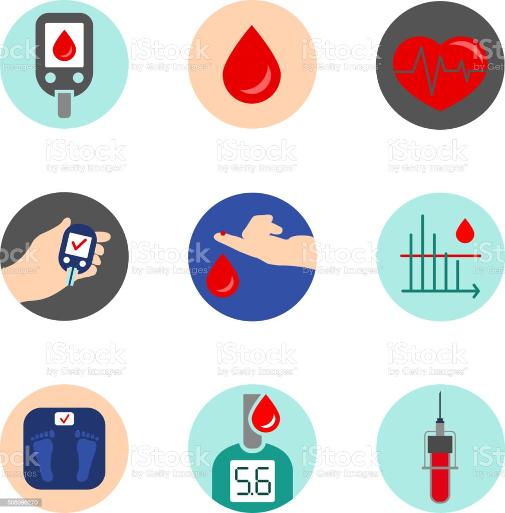 Diabetes Icon Vector Stock Vector Art & More Images of ...