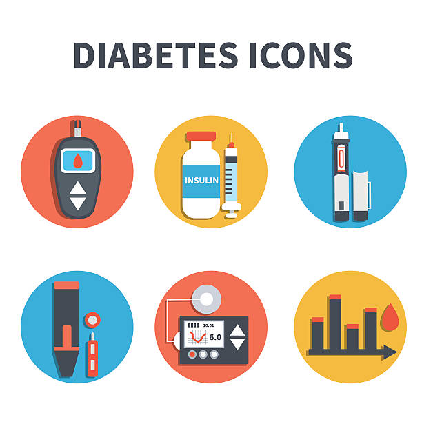 diabetes symbole - medizinexamen stock-grafiken, -clipart, -cartoons und -symbole
