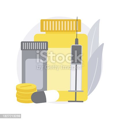 Diabetes medications abstract concept vector illustration.