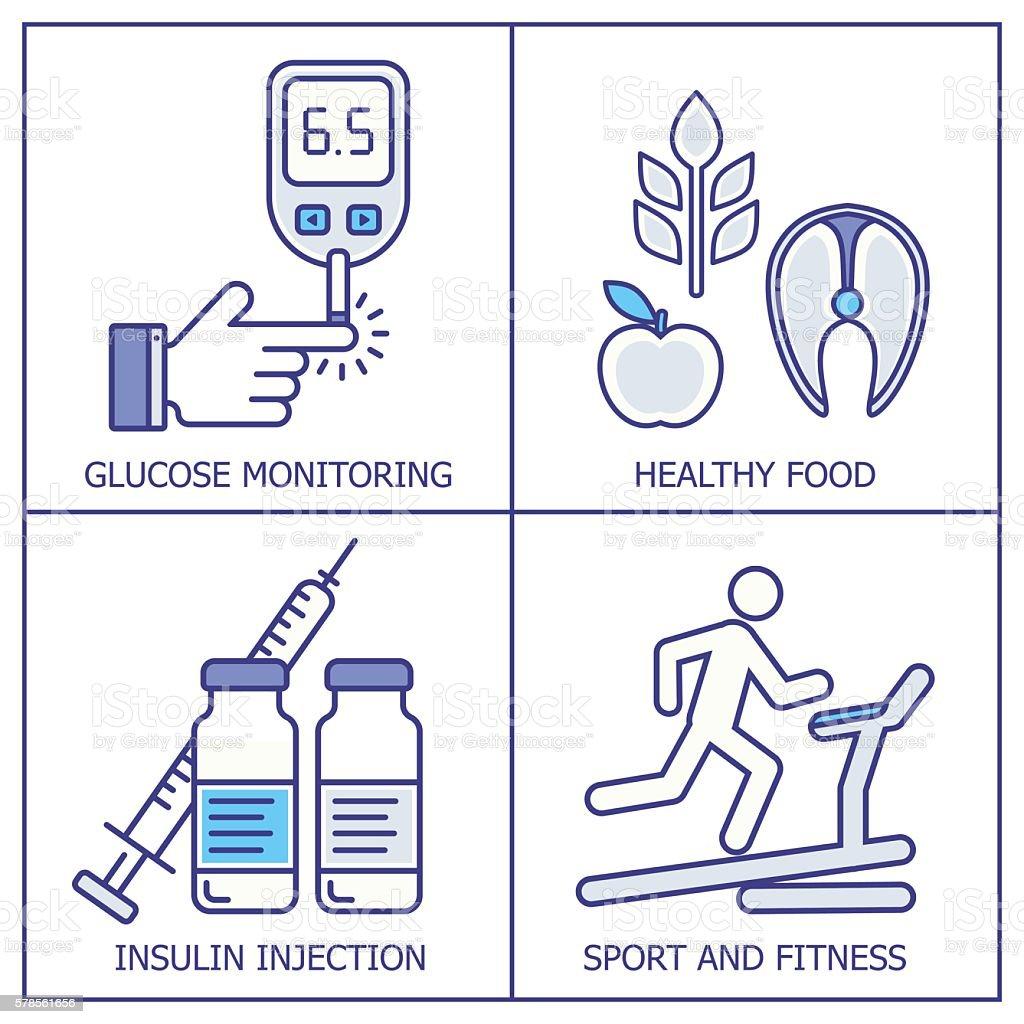 Diabetes vector background vector art illustration