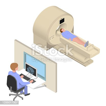 istock MRI Diagnosis Isometric Vector Illustration 1255017007