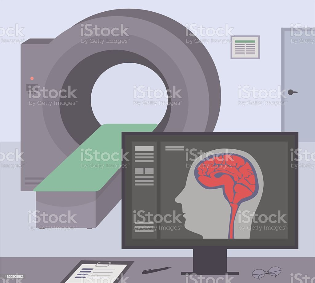 MRI / CT diagnostic scanner. vector art illustration