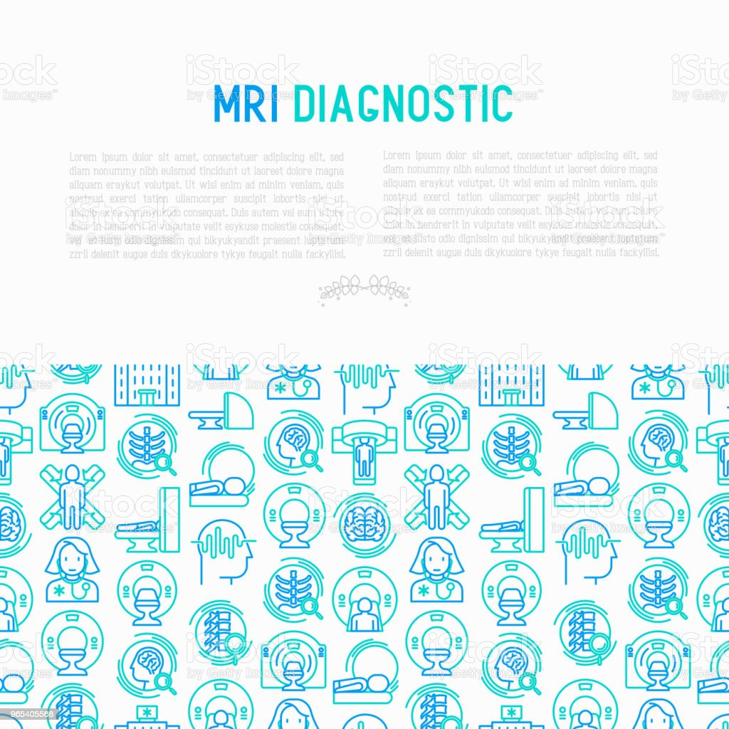 MRI diagnostics concept with thin line icons. Modern vector illustration of laboratory equipment for web page template, print media, banner. royalty-free mri diagnostics concept with thin line icons modern vector illustration of laboratory equipment for web page template print media banner stock vector art & more images of analyzing