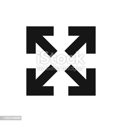 istock Diagonal arrow for web design vector icon in flat style, vector isolated 1250046669