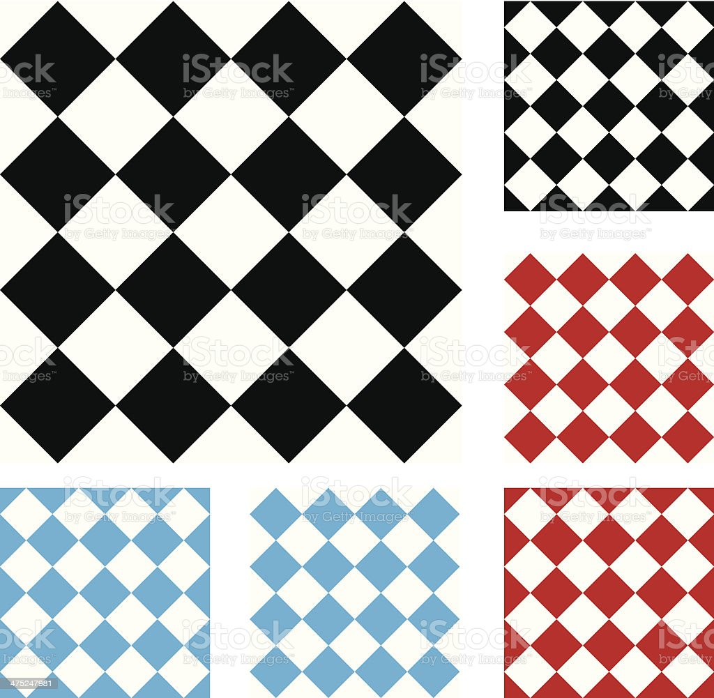 Diagonal Checkered Seamless, Repeatable Backgrounds vector art illustration