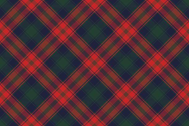 Diagonal fabric texture plaid seamless pattern Diagonal fabric texture plaid seamless pattern. Vector illustration. tartan pattern stock illustrations