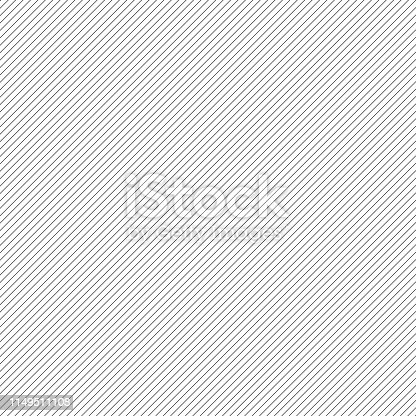 istock Diagonal lines. Pattern. Black lines abstract wallpaper or decorative element. 1149511108