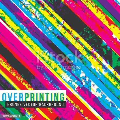 istock Diagonal stripes abstract background - square format 1324733611