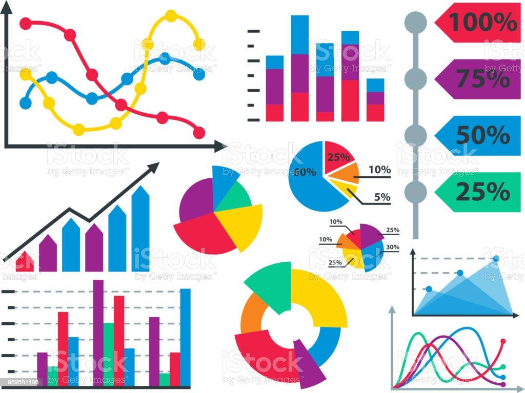 Diagrammelemente Graph Diagramm Vektorgeschäft Infografik Flowsheet ...