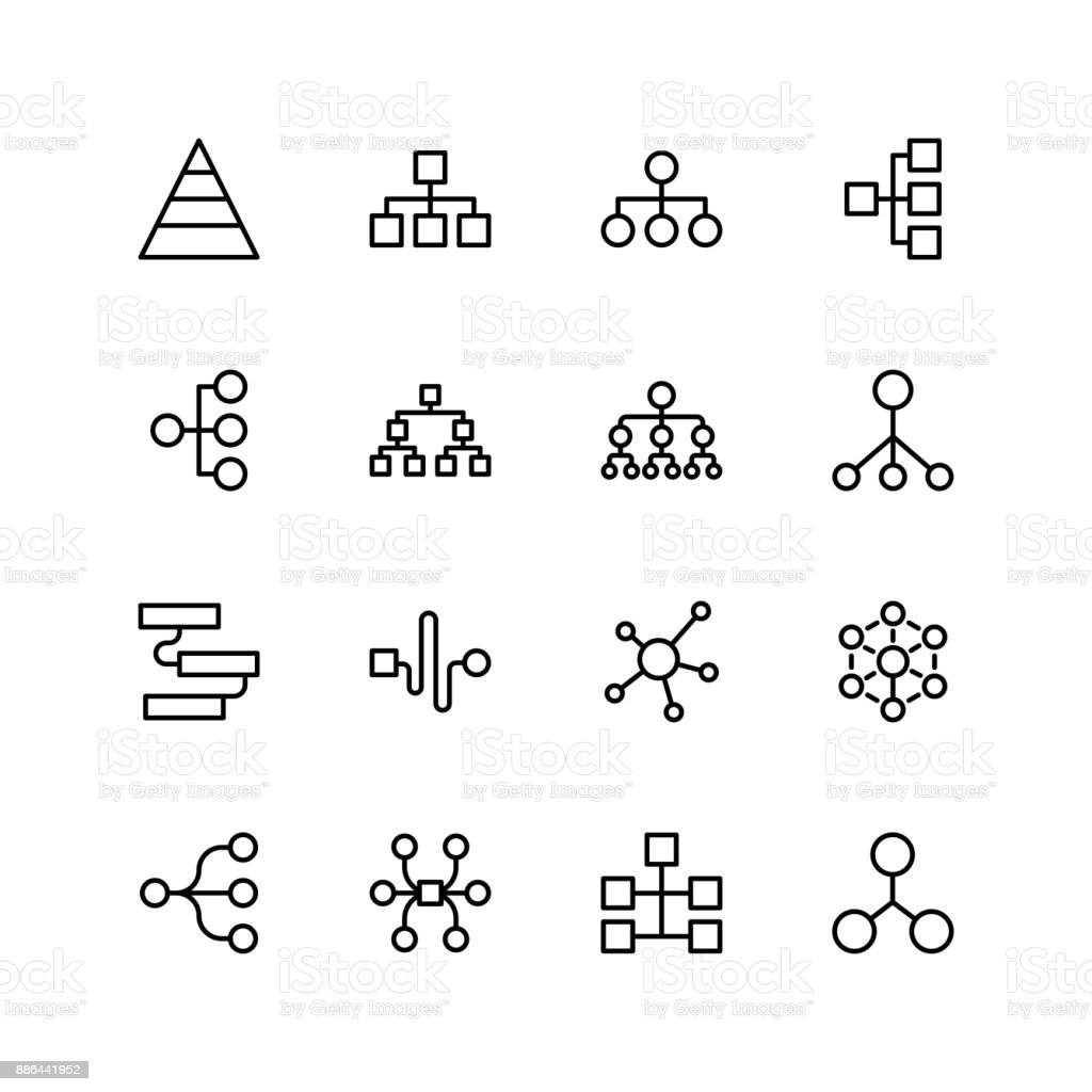 Diagram flat icon royalty-free diagram flat icon stock illustration - download image now