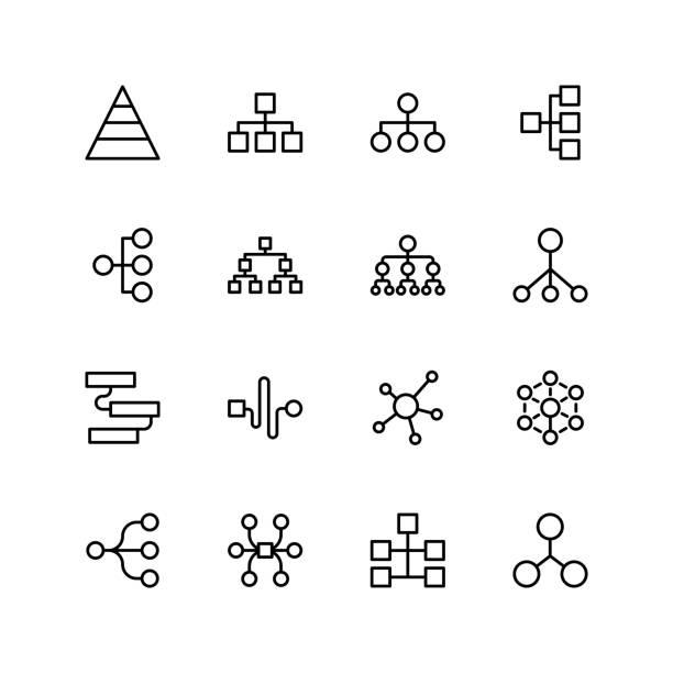 ilustrações, clipart, desenhos animados e ícones de ícone de plana de diagrama - escorrer