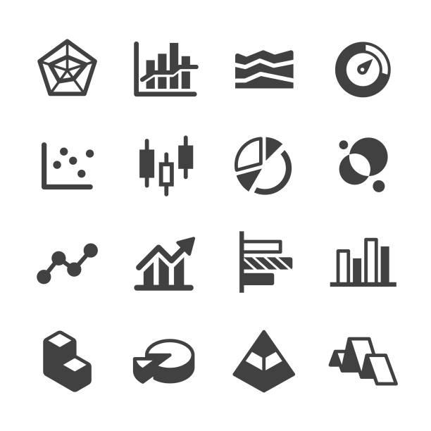 ilustrações, clipart, desenhos animados e ícones de ícones de diagrama - série acme - economy