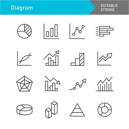 Diagram Line Icons (Editable Stroke)