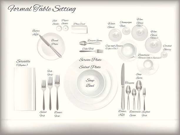 Royalty Free    Place       Setting    Clip Art  Vector Images