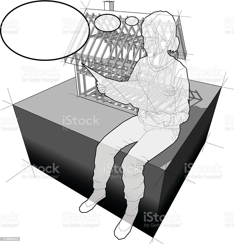 Ilustración de Diagrama Del Parlamento Marco Y Mujer Con Globo De ...