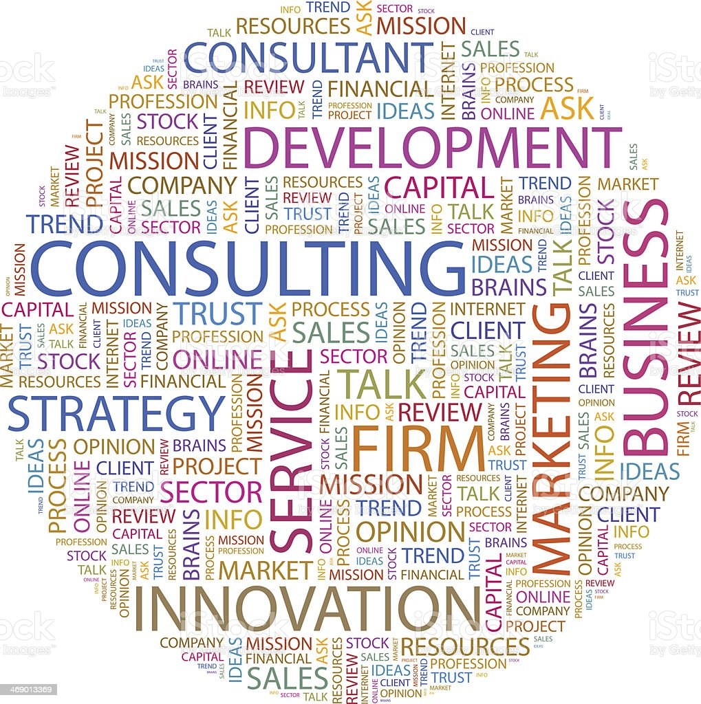 A Diagram Of Words Relating To Consulting Stock
