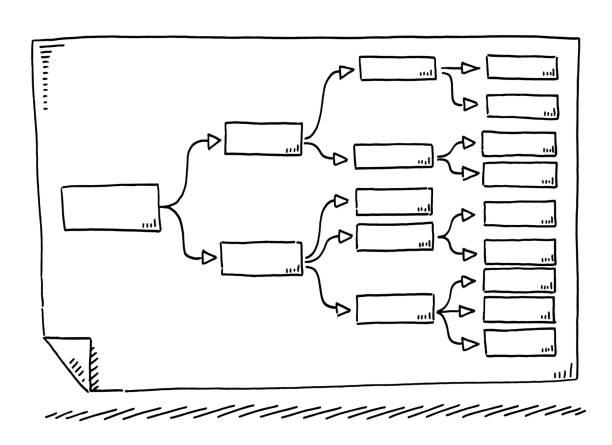 Diagram Organization Drawing vector art illustration