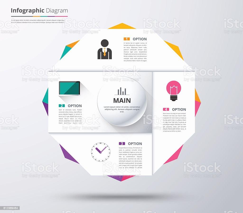 diagram template organization chart template stock vector art more