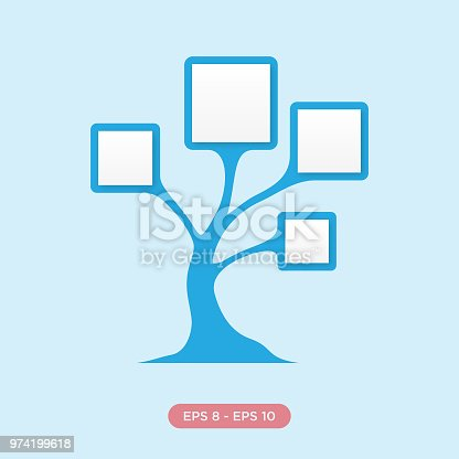 diagram tree infographic icon silhouette vector design. Black Bedroom Furniture Sets. Home Design Ideas