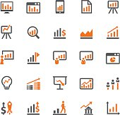Diagrams and graphs icon set