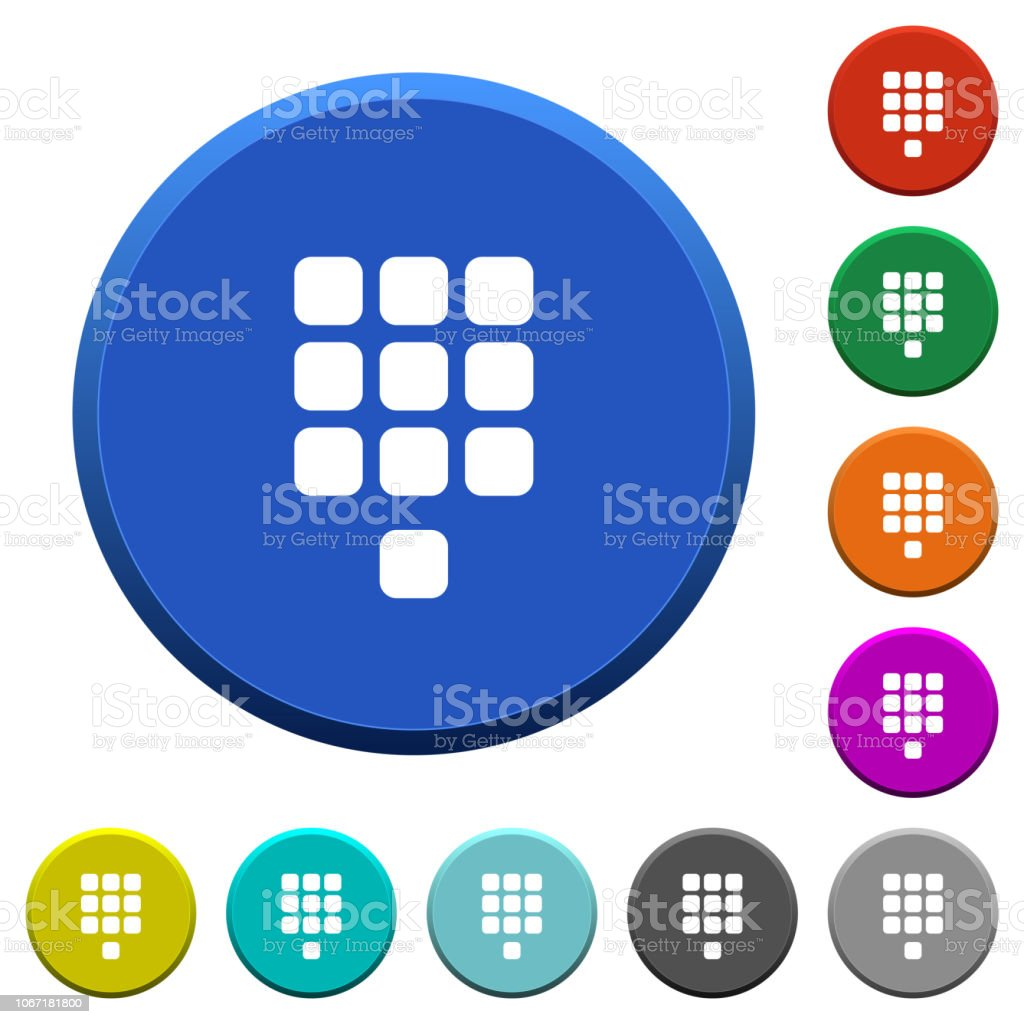 Dial Pad Beveled Buttons Stock Illustration - Download Image Now