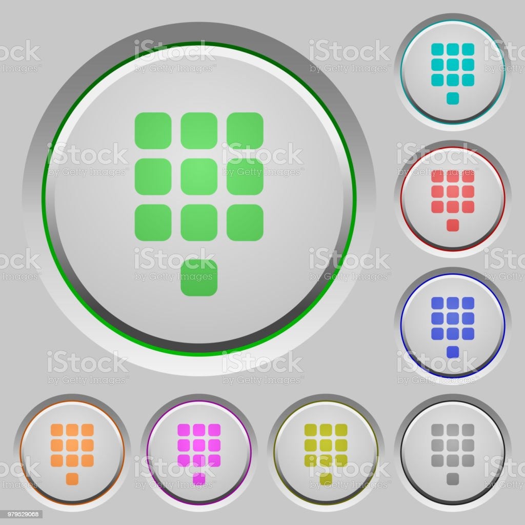 Dial Pad Push Buttons Stock Illustration - Download Image Now - iStock