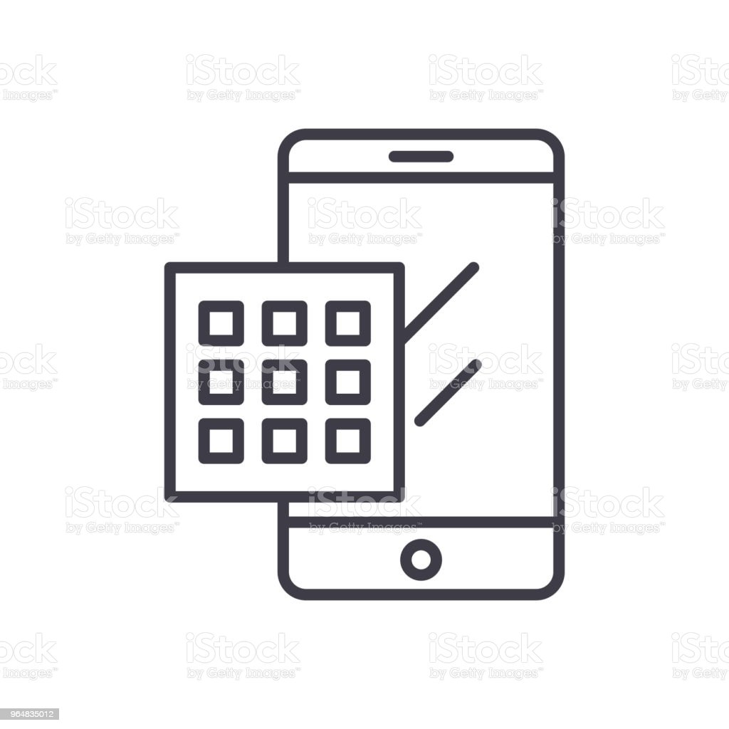 Dialing a number black icon concept. Dialing a number flat  vector symbol, sign, illustration. royalty-free dialing a number black icon concept dialing a number flat vector symbol sign illustration stock vector art & more images of alarm