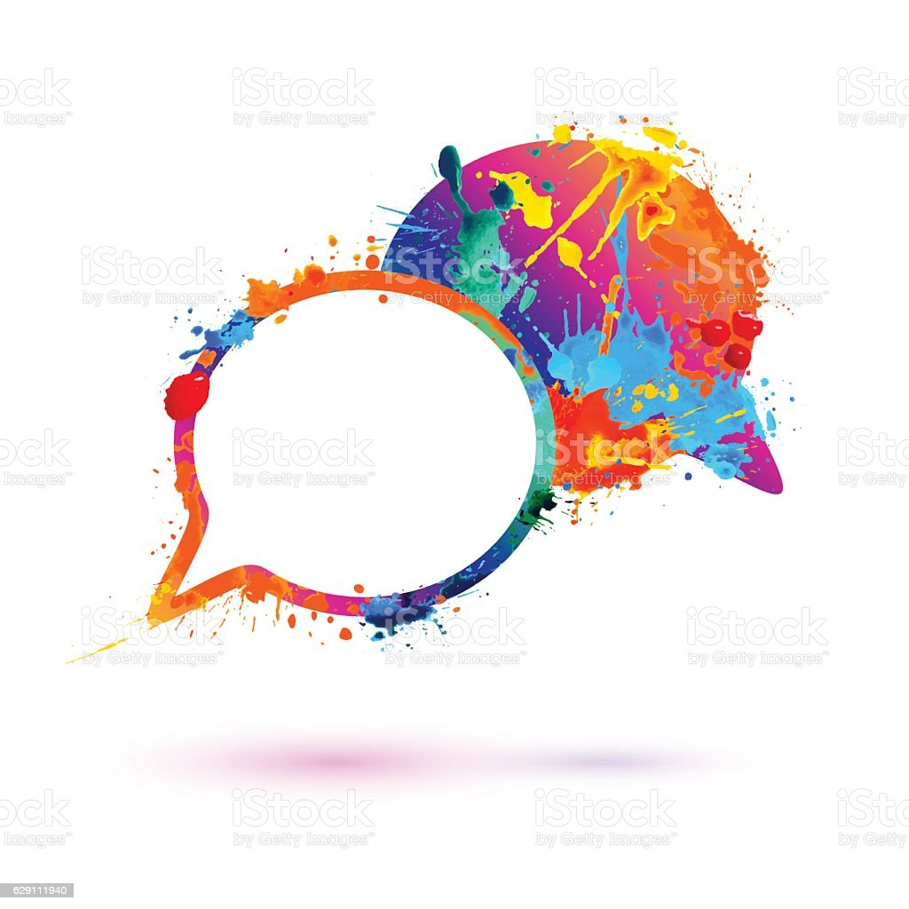 Dialog Icon Splash Paint Stock Illustration - Download ...