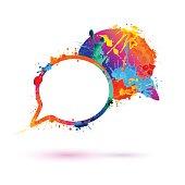 Dialog icon. Splash paint